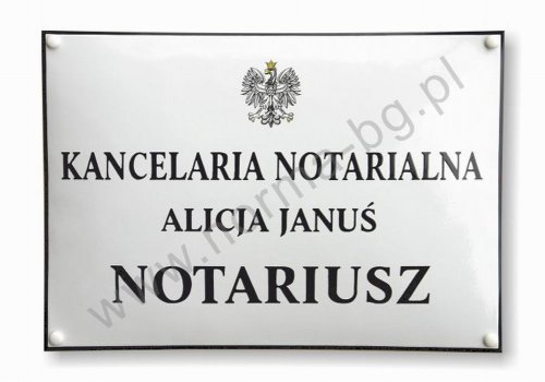 Tablica do kancelarii notarialnej